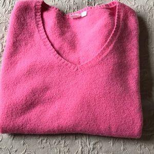 Gap - Large V Neck Pink Sweater